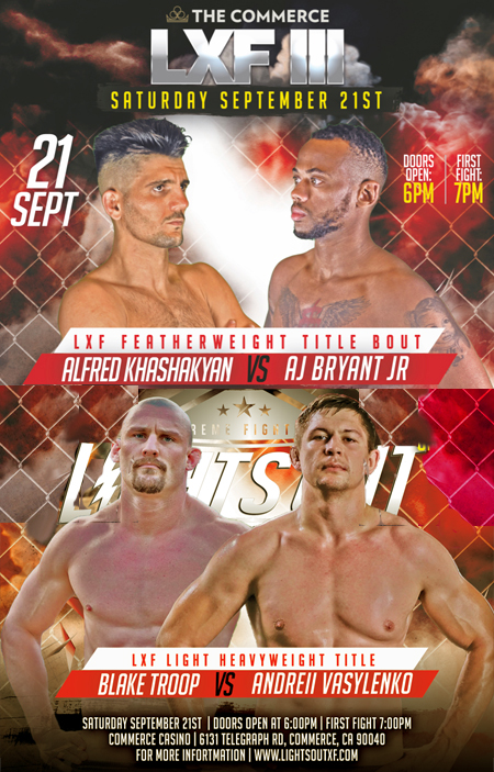 LXF 3 Returns Sept. 21 With Two Title Bouts