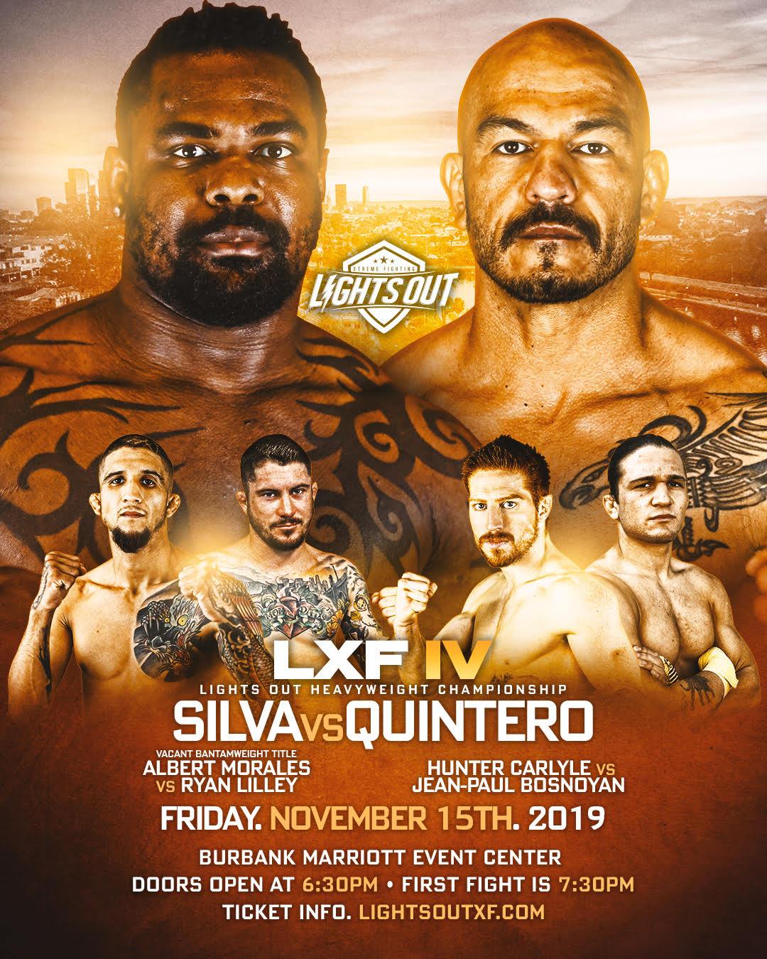 LXF 4 Returns Nov. 15 With Two Title Bouts